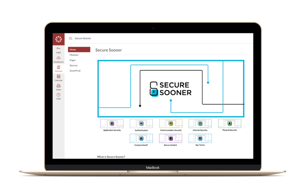 Secure Sooner Canvas Course